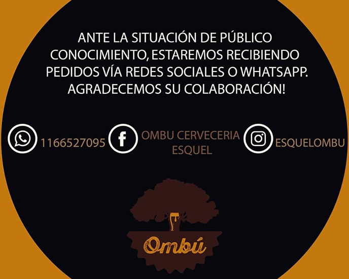 Ombu delivery en La Guia Esquel