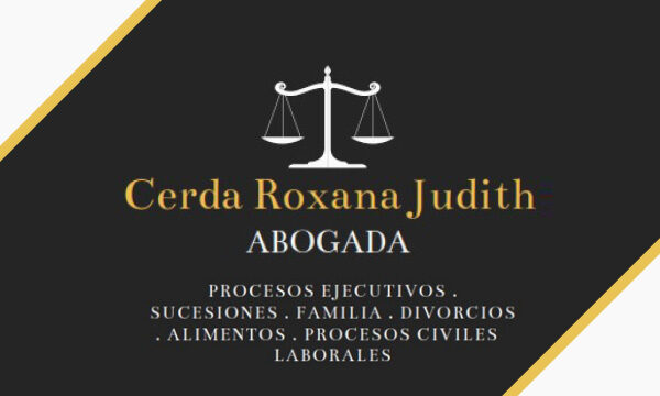 Cerda Roxana Judith abogada en La Guia Esquel